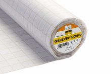 Quilter's Iron-on Interlining Grid: White: 190cm