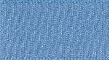 Double Faced Satin: 1m x 10mm: Dusky Blue