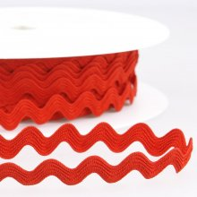 Trim: Ric Rac: 1m x 13mm: Red