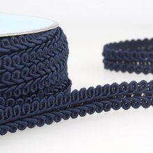 Trim: Gimp Braid: 1m x 15mm: Navy Blue