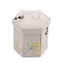 Premium Novelty Collection: Victorian Appliqué Sewing Case with Contents: Bee
