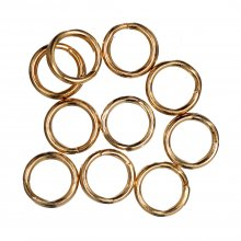 Deluxe: Split Rings: Gold Plated: Pack of 10