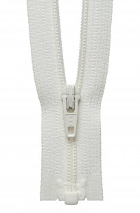 Light-Weight Open End Zip: 36cm: Cream