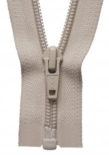 Nylon Open End Zip: 30cm: Beige