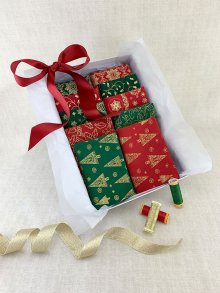 Gift Hamper - Christmas 1/2 metres, Threads & Display Box