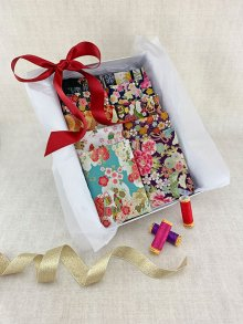 Gift Hamper - Gilded Japanese 1/2 metres, Threads & Display Box