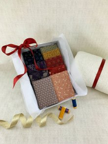 Gift Hamper - Traditional Japanese Fat 1/4s, Threads, Wadding & Display Box