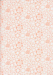 Craft Cotton Co. - Into The Woods Pink Rings Of Leaves Cream