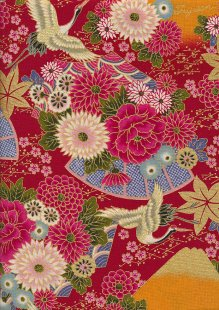 Authentic Gilded Japanese - Japanese Bouquet Red 68970 col 102