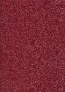 Sevenberry Japanese Linen Look Cotton - Waves Red 68170