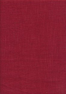 Sevenberry Japanese Plain Linen Look Cotton - RedRed