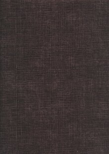 Sevenberry Japanese Plain Linen Look Cotton - ChocolateChocolate