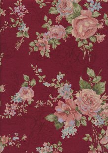 Lecien Japanese Fabric - Vintage Rose 20800-103 RED