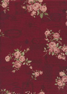 Lecien Japanese Fabric - Vintage Rose 20800-110 RED
