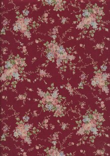 Lecien Japanese Fabric - Vintage Rose 20800-117 RED