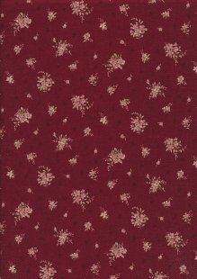 Lecien Japanese Fabric - Vintage Rose 20800-124 RED