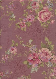 Lecien Japanese Fabric - Vintage Rose 20800-102 PINK