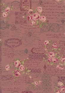 Lecien Japanese Fabric - Vintage Rose 20800-109 PINK