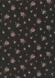 Lecien Japanese Fabric - Vintage Rose 20800-128 BROWN