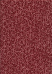 Sevenberry Japanese Fabric - Fuzzy Geometric Red