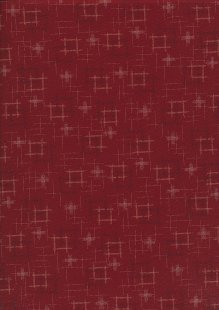 Sevenberry Japanese Fabric - Squares Red