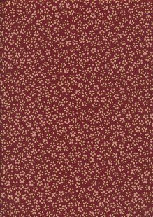 Sevenberry Japanese Fabric - Small Pressed Flowers Red