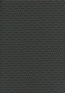 Sevenberry Japanese Fabric - Dotted Scallops Black