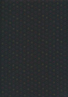 Sevenberry Japanese Fabric - Medium Pressed Geometric Flower Black
