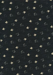 Sevenberry Japanese Fabric - Fish Black
