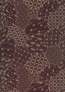 Japanese Fabric - Patchwork Brown