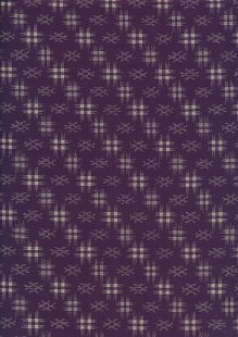 Sevenberry Japanese Fabric - Faded Grid Purple