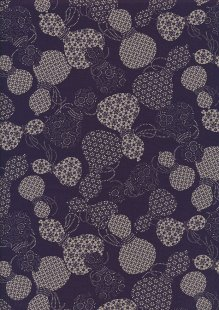 Sevenberry Japanese Fabric - Urns Purple