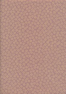 Sevenberry Japanese Fabric - Small Pressed Flowers & Leaves Pink