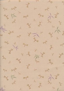 Sevenberry Japanese Fabric - Dragonflies Cream