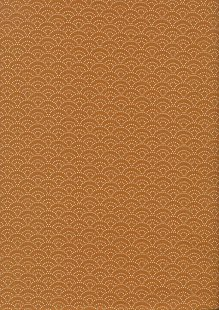 Sevenberry Japanese Fabric - Dotted Scallops Orange