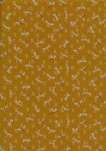 Sevenberry Japanese Fabric - Dragonflies Yellow