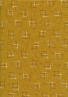 Sevenberry Japanese Fabric - Linked Squares Yellow