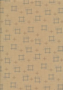 Sevenberry Japanese Fabric - Squares Cream
