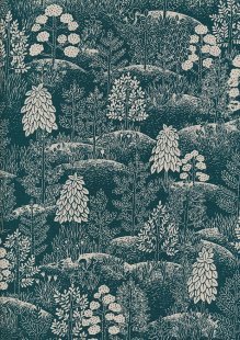 Sevenberry Japanese Fabric - Trees Green