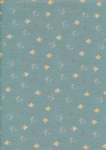 Sevenberry Japanese Fabric - Fish Turquoise
