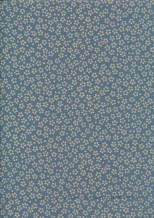 Sevenberry Japanese Fabric - Small Pressed Flowers & Leaves Turquoise