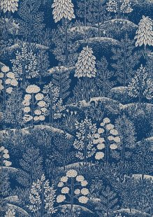 Sevenberry Japanese Fabric - Trees Blue