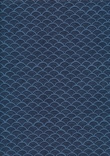 Sevenberry Japanese Fabric - Scallops Blue