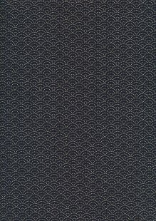 Sevenberry Japanese Fabric - Dotted Scallops Navy