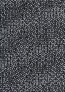 Sevenberry Japanese Fabric - Shells Navy
