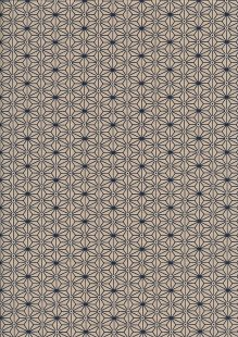 Sevenberry Japanese Fabric - Medium Pressed Geometric Flower Cream