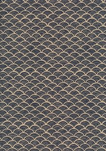Sevenberry Japanese Fabric - Scallops Navy