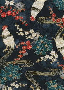 Traditional Japanese Print - Navy 61610 Col 105