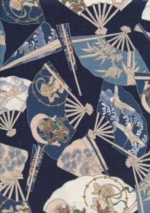 Traditional Japanese Print - Blue 61460 Col 2