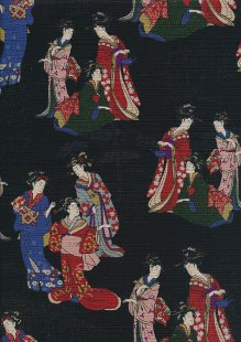 Traditional Japanese Print - Black 61670 Col 1